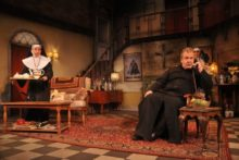 'Father O'Flaherty Save Our Souls' kicked off at Liverpool's Royal Court Theatre with a bang.
