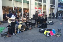 Multi-platinum selling band Keywest treated shoppers to a surprise performance on the streets of Liverpool.