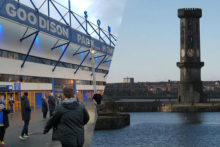 Everton's bid to build a brand new stadium cleared its first obstacle after the club agreed to purchase land at Bramley Moore Dock.