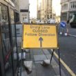 Work being carried out on the India Buildings may leave city centre roads closed or affected until April next year.