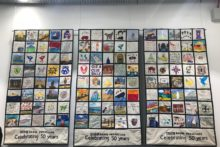 A patchwork creation has been made to celebrate the 50th anniversary of BBC Radio Merseyside.