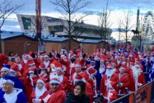 Thousands of Father Christmas lookalikes invaded town for the 14th annual Liverpool Santa Dash.