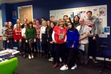 JMU Journalism finished off this year's newsdays in seasonal style with our Christmas jumpers charity efforts.