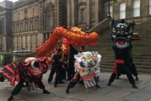 A local martial arts group brought their skills out onto the streets to herald the arrival of the Terracotta Warriors.