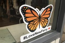 A butterfly mural has appeared in New Ferry to bring colour to the town after a devastating explosion.