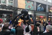 A giant spider took to the streets around Liverpool One in the build-up to Halloween.