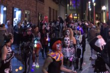 Halloween and Brazilian carnival came together for a night of flair, dancing and scary outfits.