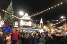 The countdown to Christmas came to Crosby with the annual festive lights switch-on.