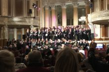 The 100th anniversary of women gaining the right to vote was celebrated at a special concert.