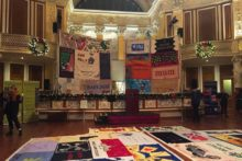 A sudden accident cut short a World AIDS Day (WAD) vigil ts St George's Hall.