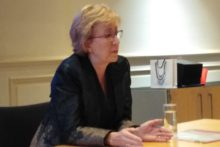 The leader of the House of Commons, Andrea Leadsom MP, visited Liverpool for a talk and met LJMU students.