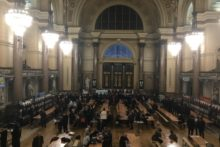 The toast at St George's Hall was in celebration of real beer at the Winter Ales Festival.