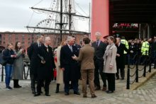 HRH Prince Charles visited the Royal Albert Dock as part of a visit to Liverpool with the Duchess of Cornwall.