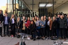JMU Journalism students went on a trip to London, visiting either The Guardian headquarters or Sky News.